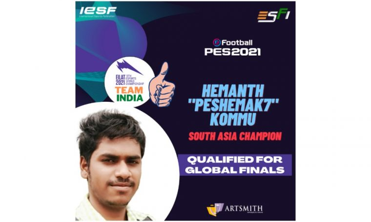 India's Hemanth Kommu qualifies for the Finals at 13th Esports World Championship