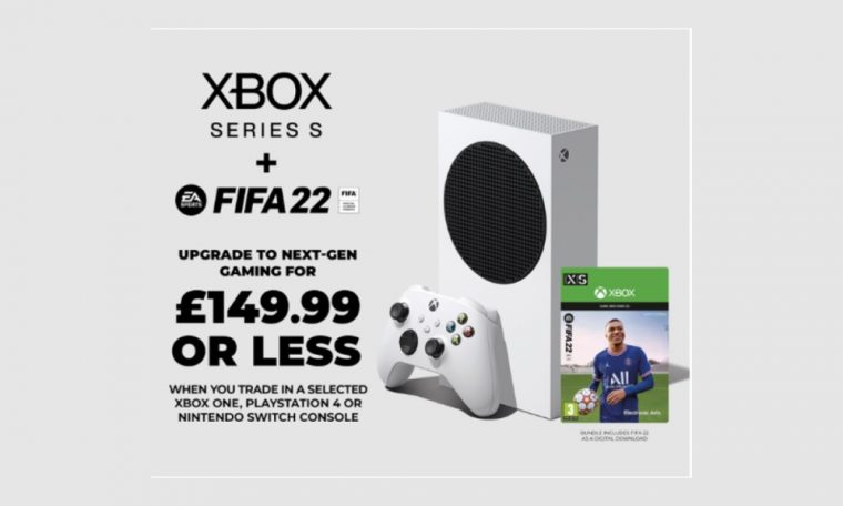 An Xbox Series S and FIFA 22 for £149.99 or less!